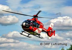 Hubschrauber der DRF Luftrettung im Einsatz Quelle DRF Luftrettung