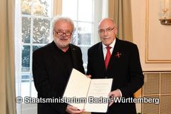 Staatsminister Klaus-Peter Murawski (links) und Dr. h.c Rudolf Böhmler-240